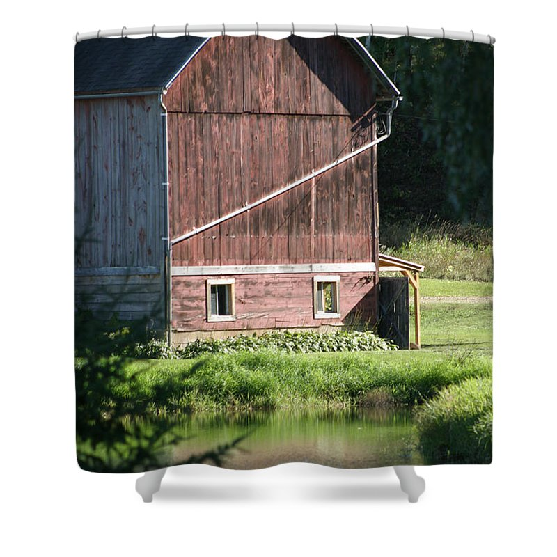 Barn Shower Curtain featuring the photograph In The Sun by Bjorn Sjogren