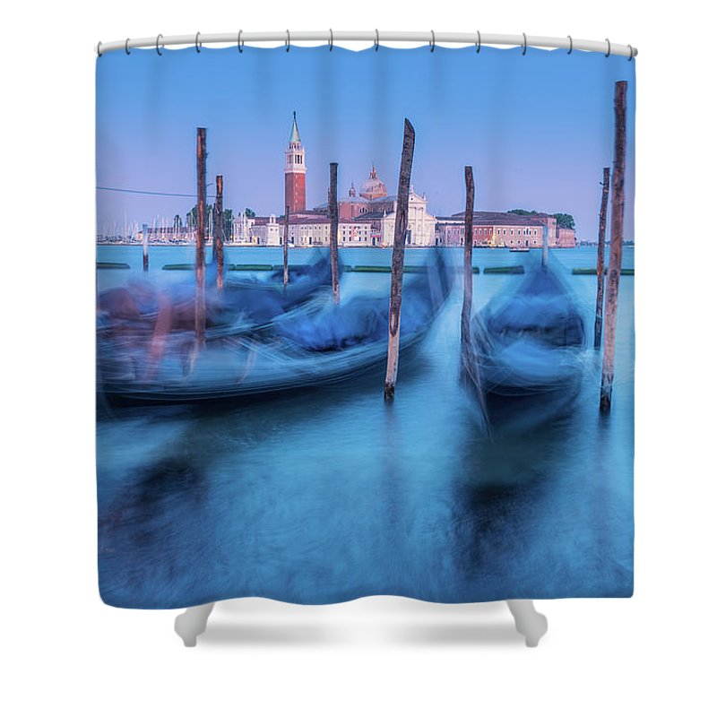 Cities Shower Curtain featuring the photograph In The Twilight Of Memory by Videophotoart Com