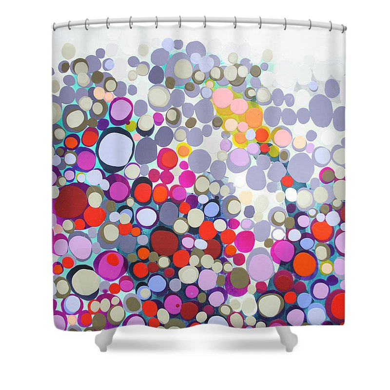 Abstract Shower Curtain featuring the painting In The Winter by Claire Desjardins
