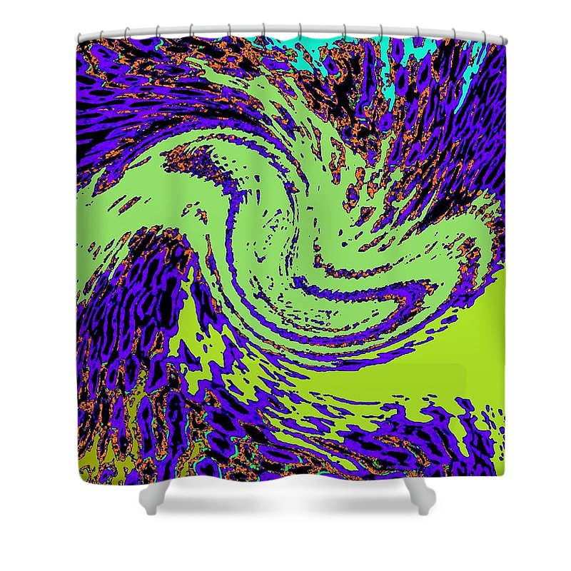 Coral Reefs Shower Curtain featuring the digital art In Transition by Will Borden