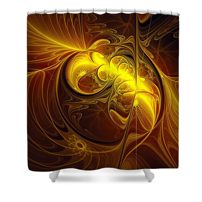 Abstract Shower Curtain featuring the digital art In Utero by Georgiana Romanovna
