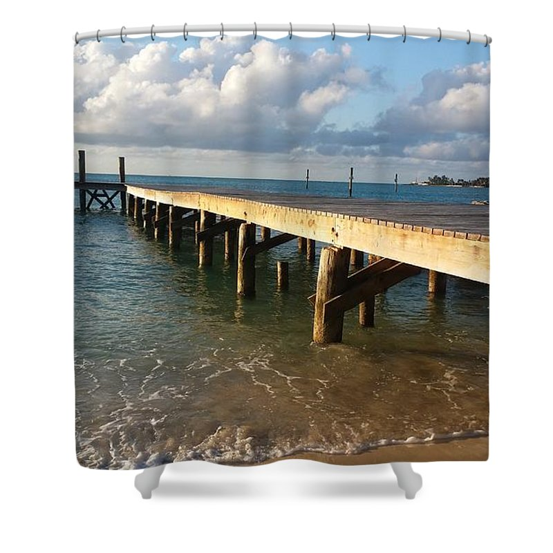 Sea Shower Curtain featuring the photograph In With The Tide by Kayla Powell