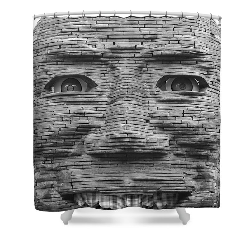 Architecture Shower Curtain featuring the photograph In Your Face by Rob Hans