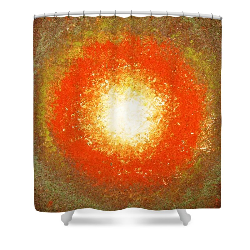 Original Shower Curtain featuring the painting Inception by Todd Hoover
