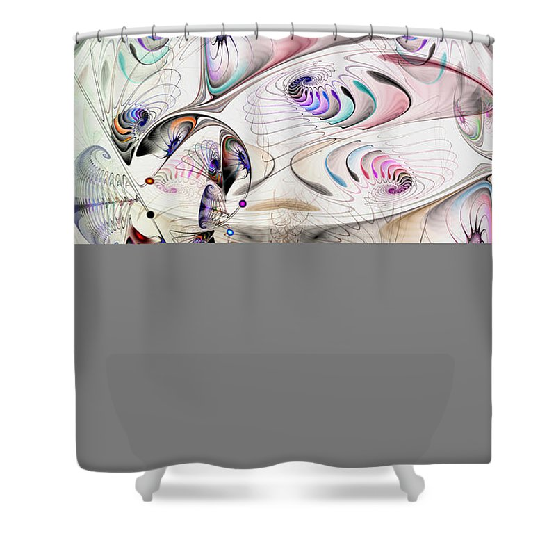 Abstract Shower Curtain featuring the digital art Inconceivable by Casey Kotas