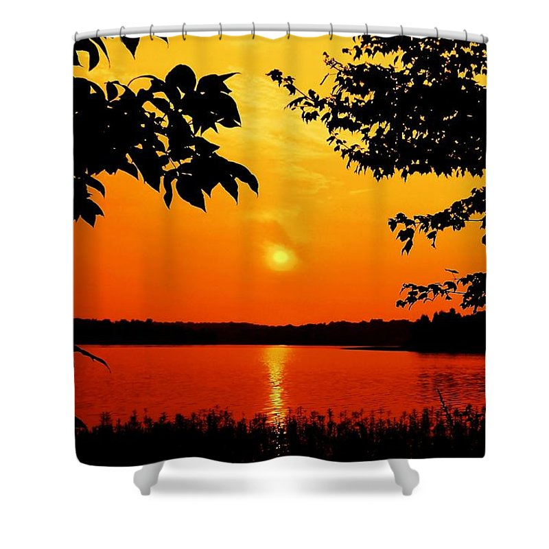 Landscape Shower Curtain featuring the photograph Indelible Impression by Mitch Cat