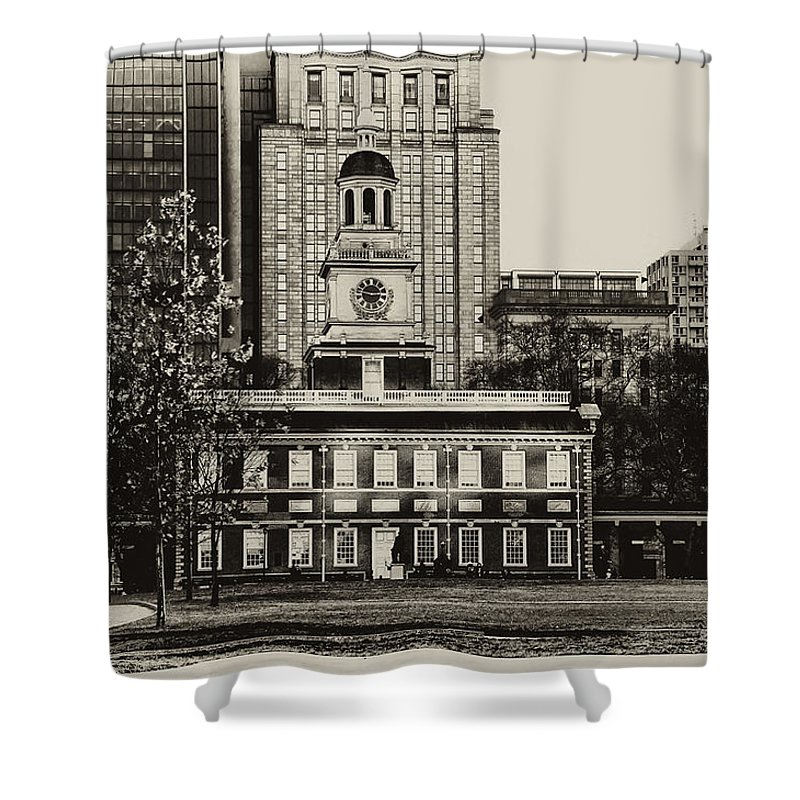 Philadelphia Shower Curtain featuring the photograph Independence Hall by Bill Cannon