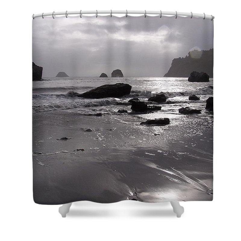 Beach Shower Curtain featuring the photograph Indian Beach by Gale Cochran-Smith