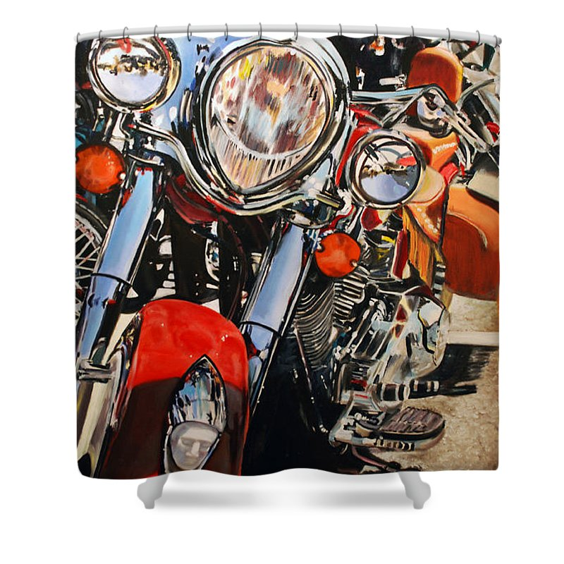 Indian Shower Curtain featuring the photograph Indian Chieftan by Mark Pritchard