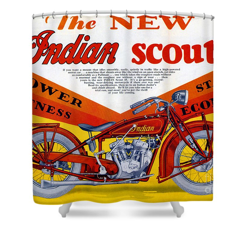 Indian Shower Curtain featuring the digital art Indian Scout by Steven Parker