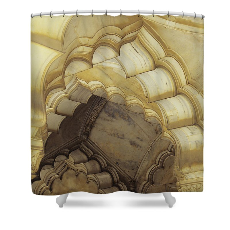 Arch Shower Curtain featuring the photograph Indian Temple Arches by Kyle Rothenborg - Printscapes