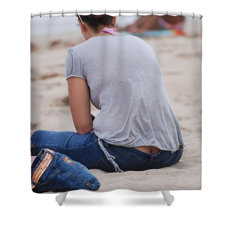 Girl Shower Curtain featuring the photograph Indiana Girl by Rob Hans