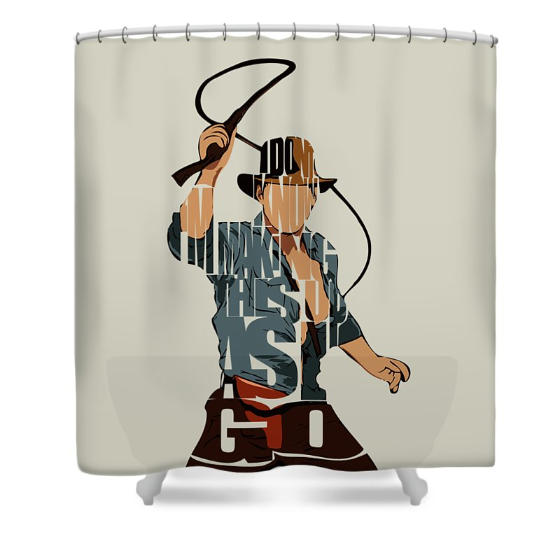 Indiana Jones Shower Curtain Featuring The Painting