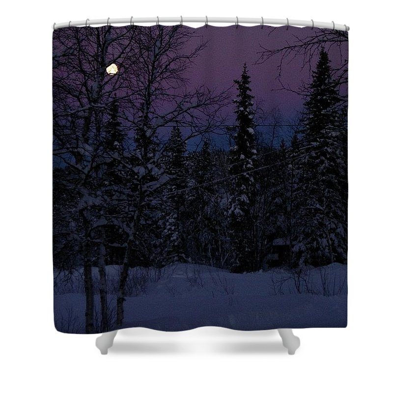 Lappland Shower Curtain featuring the photograph Indigo by Maria Joy