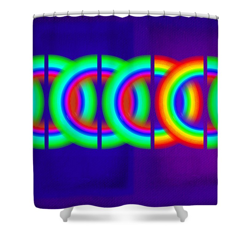 Abstract Shower Curtain featuring the painting Indigo Violet by Charles Stuart