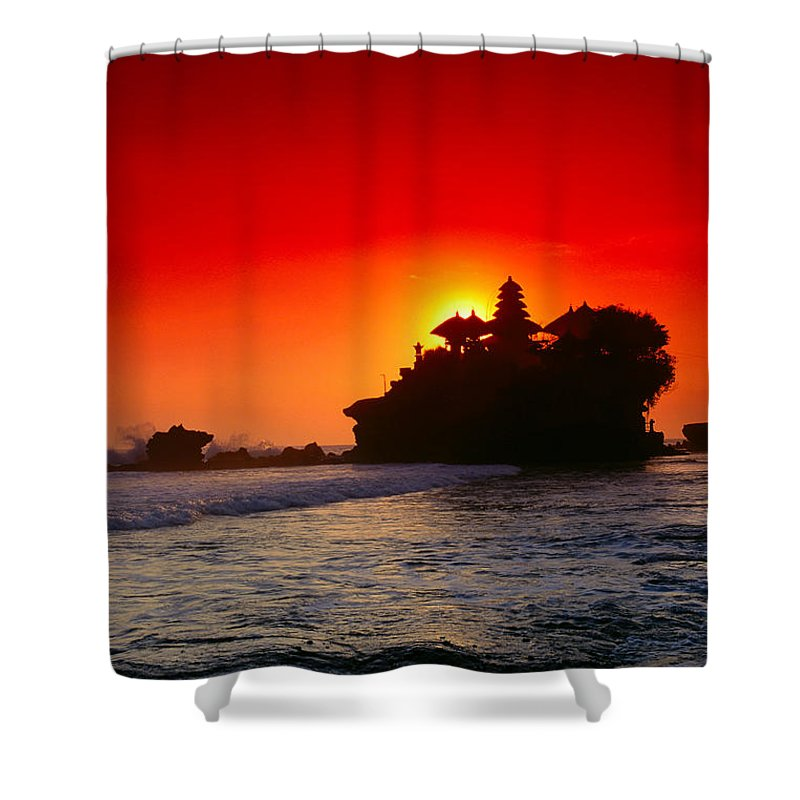 Backlit Shower Curtain featuring the photograph Indonesia, Bali by Gloria & Richard Maschmeyer - Printscapes
