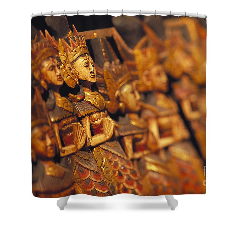 41-csm0059 Shower Curtain featuring the photograph Indonesian Dolls by Dana Edmunds - Printscapes