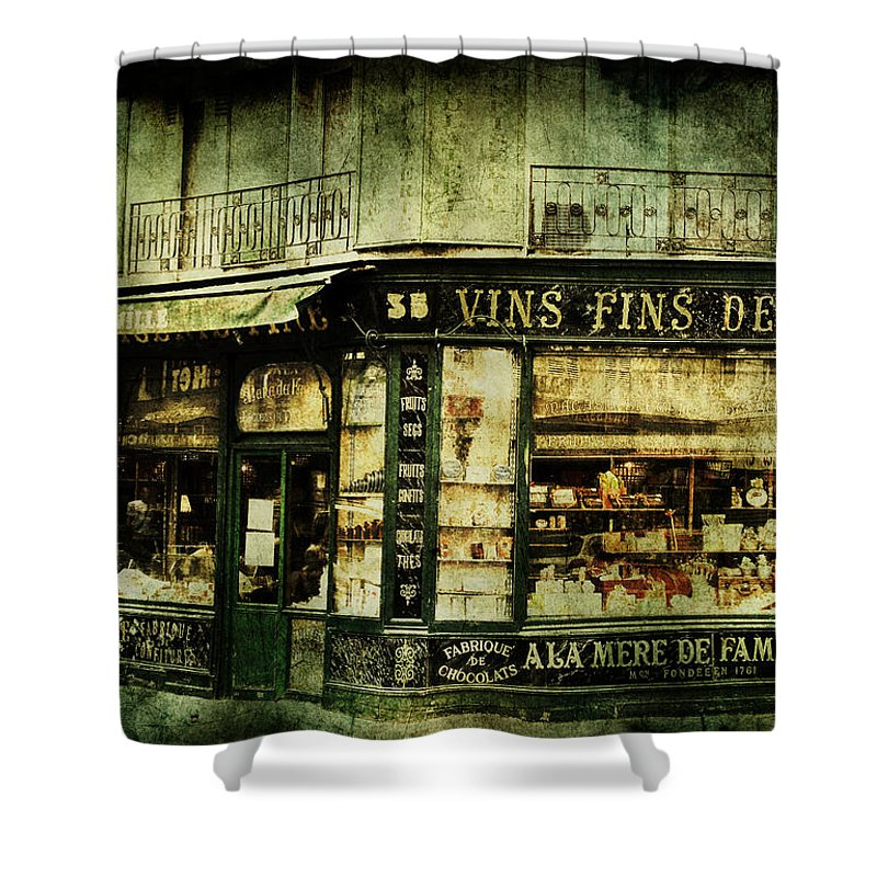 Architecture Shower Curtain featuring the photograph Indulgence by Andrew Paranavitana