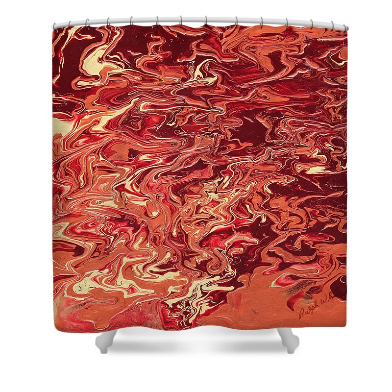 Fusionart Shower Curtain featuring the painting Indulgence by Ralph White
