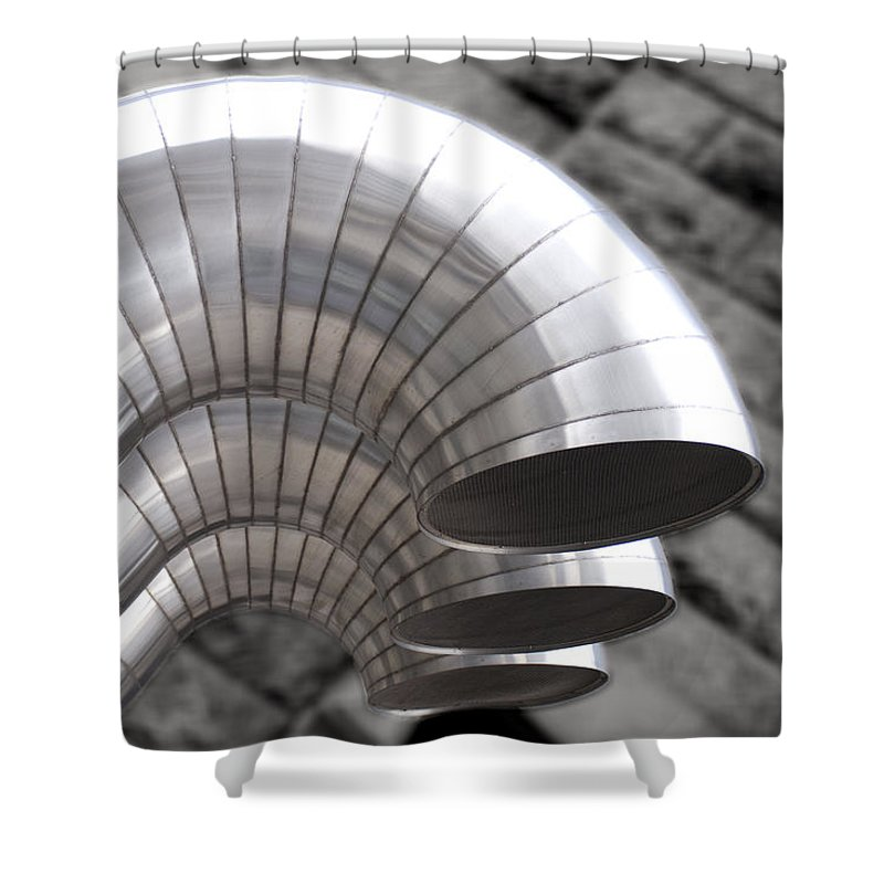 Ducts Shower Curtain featuring the photograph Industrial Air Ducts by Henri Irizarri