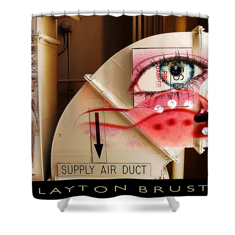 Shower Curtain featuring the photograph Industrial Ceiling Dreams by Clayton Bruster