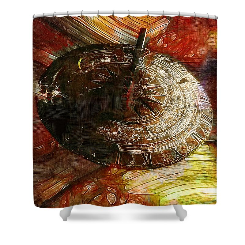 Science Fiction Shower Curtain featuring the painting Inevitable Conclusion by RC DeWinter
