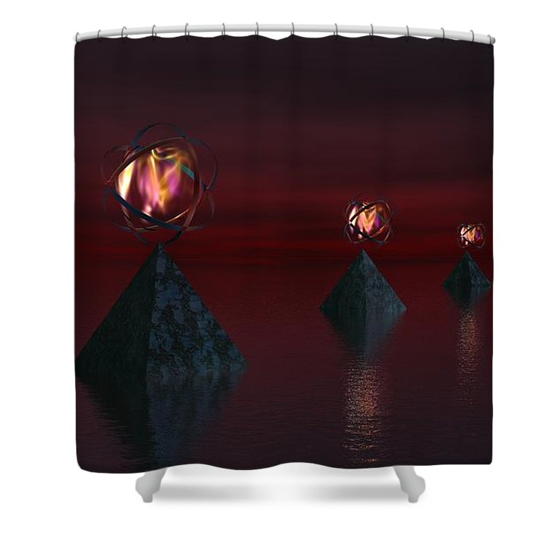 Fine Art Shower Curtain featuring the digital art Infinate Hope by David Lane