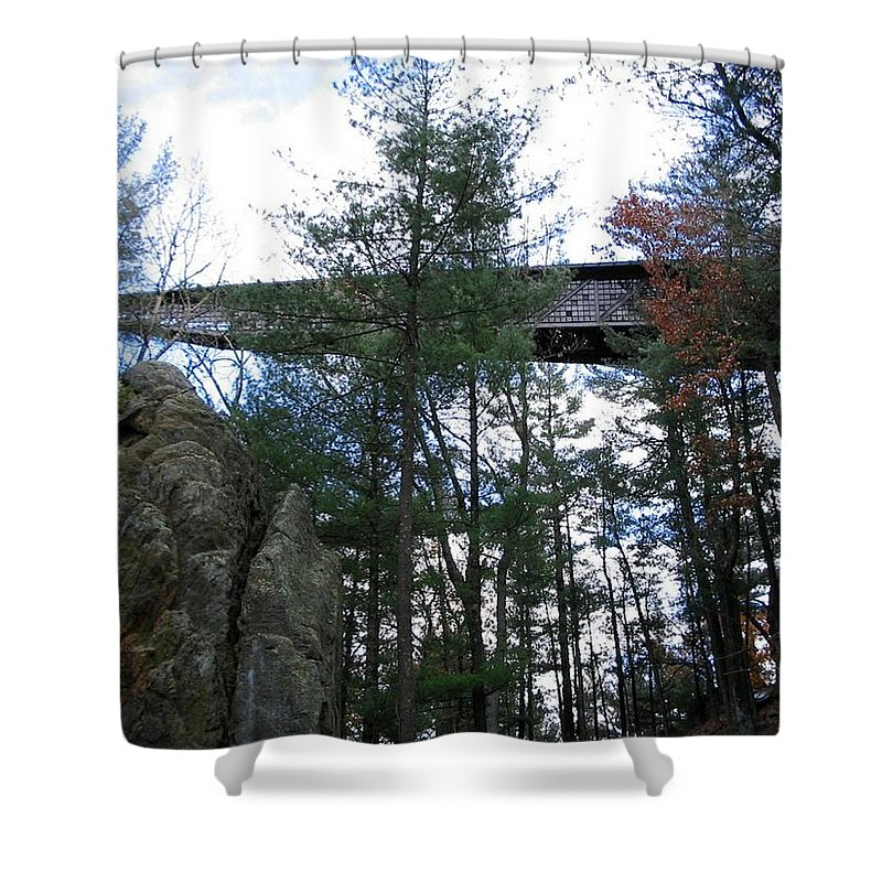 Fall Shower Curtain featuring the photograph Infinity Room by April Patterson