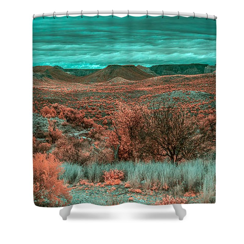Butte Shower Curtain featuring the photograph Infrared Arizona by Paul Freidlund