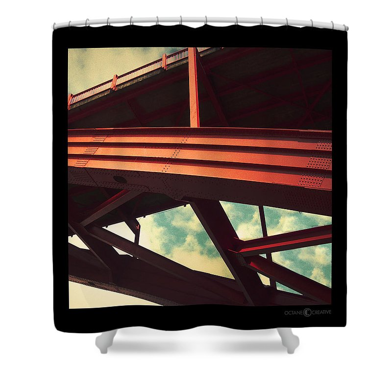 Bridge Shower Curtain featuring the photograph Infrastructure by Tim Nyberg