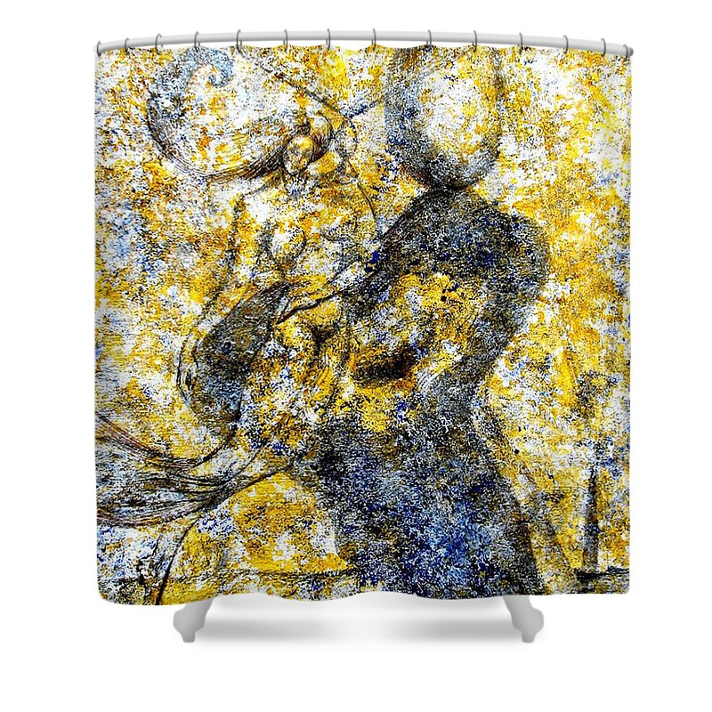 Inga Vereshchagina Shower Curtain featuring the painting Infusion by Inga Vereshchagina