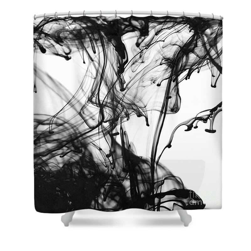 Black Shower Curtain featuring the photograph Ink IIi by Julianne W