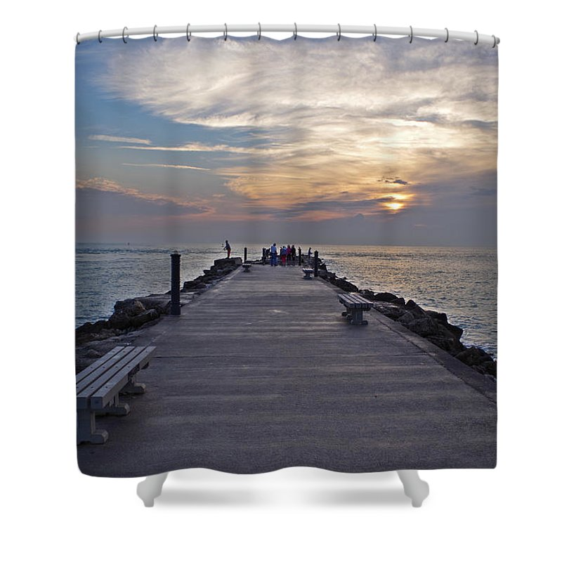 Inlet Shower Curtain featuring the photograph Inlet Fort Pierce by Bruce Roker