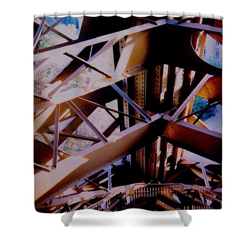 Eiffel Shower Curtain featuring the photograph Inside Eiffel by Ian MacDonald