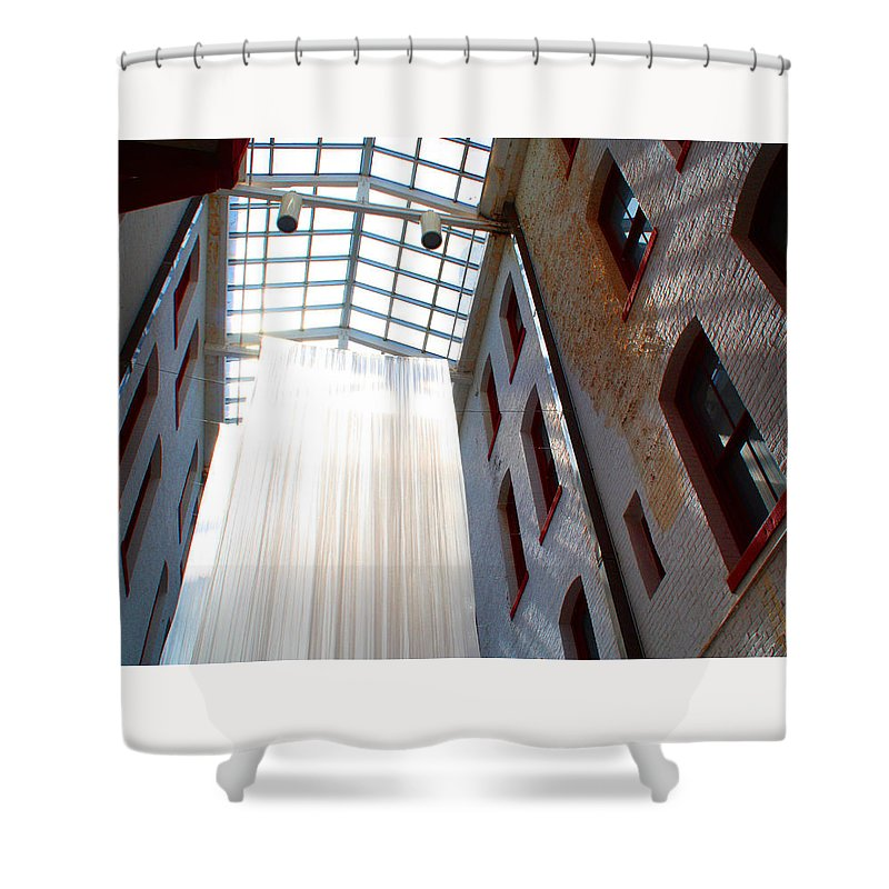 Architecture Shower Curtain featuring the photograph Inside Or Out by Deborah Napelitano