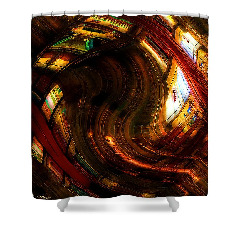 Books Shower Curtain featuring the digital art Inside The Magick Book Shop by RC DeWinter