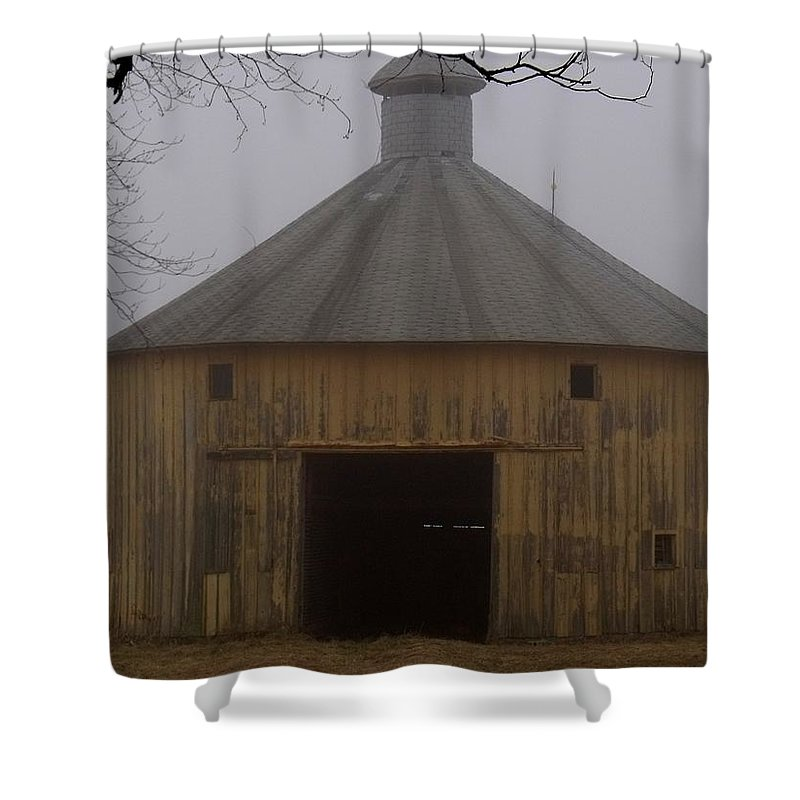 Inside These Four Walls Shower Curtain featuring the photograph Inside These Four Walls by Ed Smith
