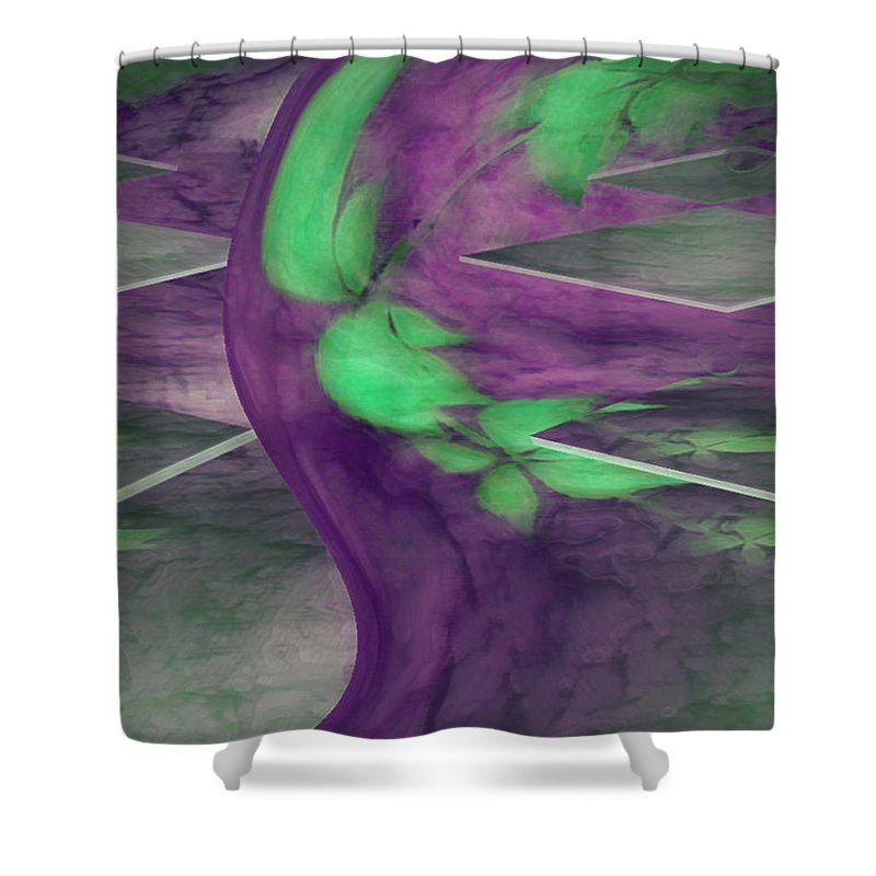 Abstracts Shower Curtain featuring the digital art Insight by Linda Sannuti