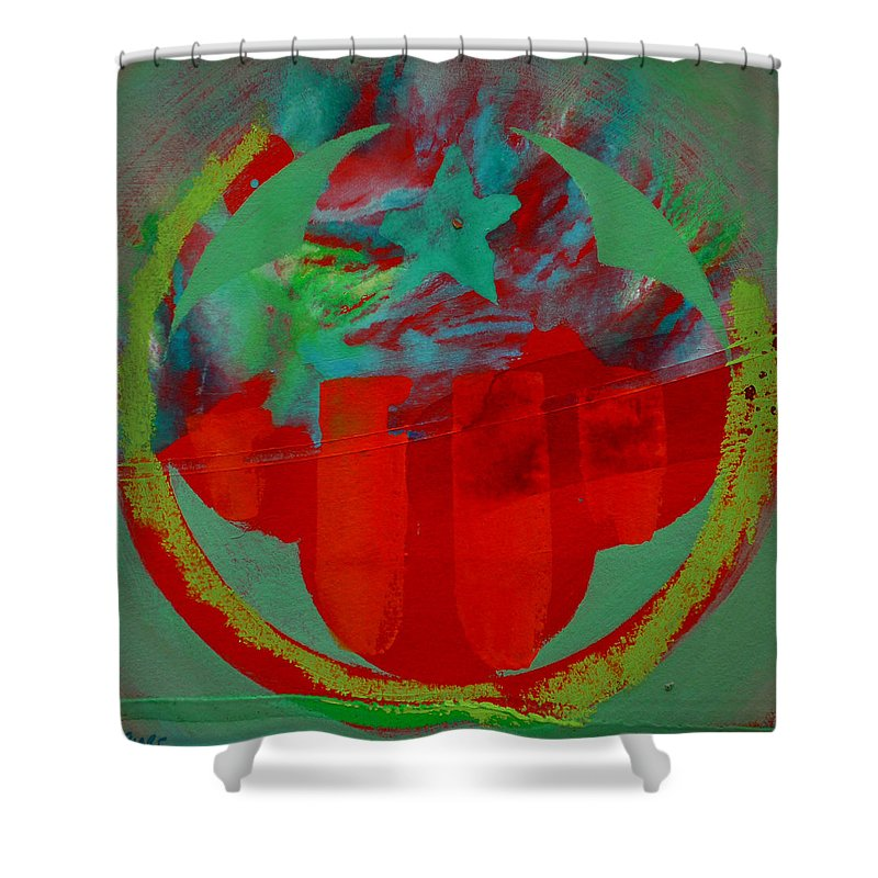 Usaaf Insignia Shower Curtain featuring the painting Insignia by Charles Stuart