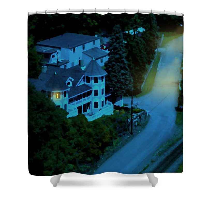 Evening Shower Curtain featuring the painting Insomnia by Paul Sachtleben