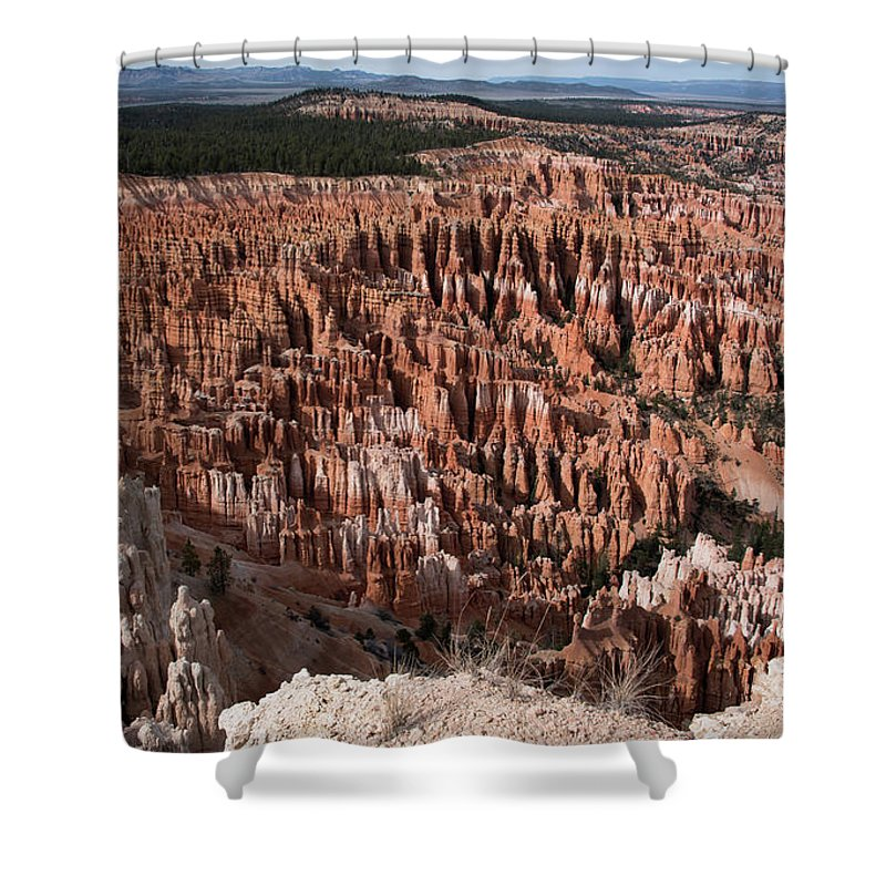 Bryce Shower Curtain featuring the photograph Inspiration Point by Jennifer Ancker