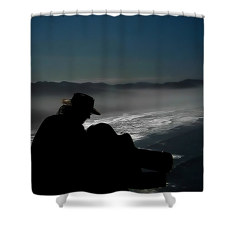 Oregon Coast Shower Curtain featuring the photograph Inspired By The Mist by David Patterson
