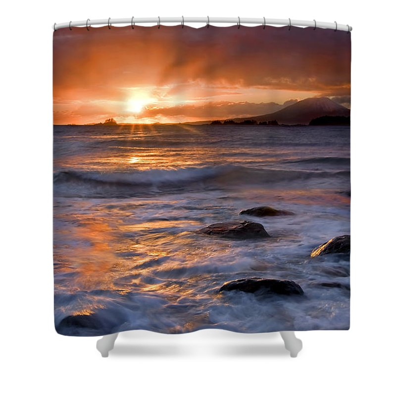 Alaska Shower Curtain featuring the photograph Inspired Light by Mike Dawson