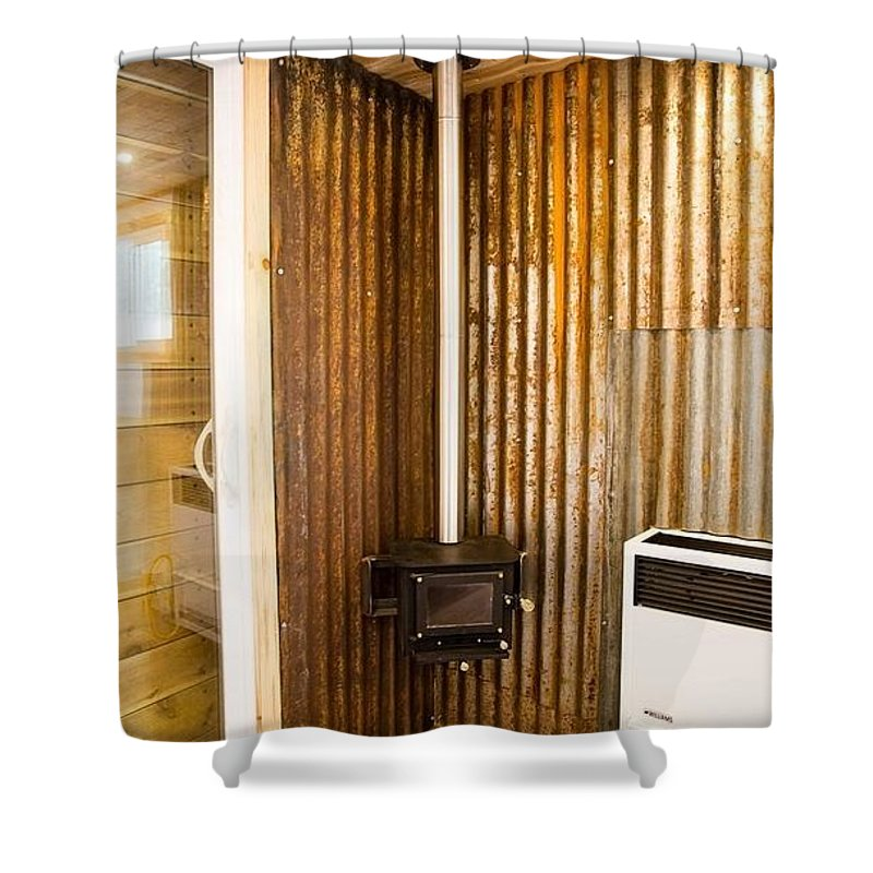 Wood Burning Stove Shower Curtain Featuring The Photograph Install Cubic Mini Stoves At Your Homes