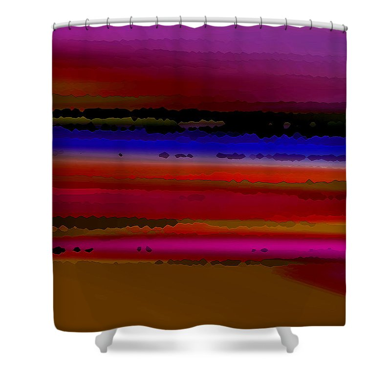 Abstract Shower Curtain featuring the digital art Intensely Hued II by Ruth Palmer