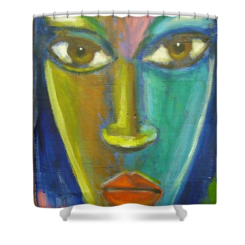 Painting Shower Curtain featuring the painting Intensity by Jan Gilmore