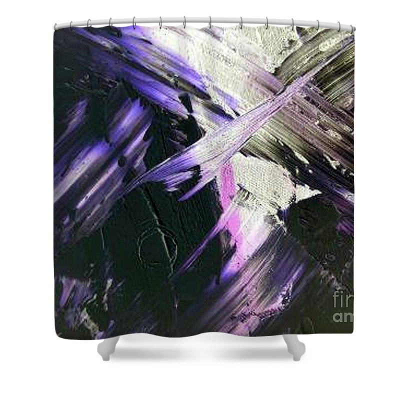 Interlude Shower Curtain featuring the painting Interlude by Dawn Hough Sebaugh