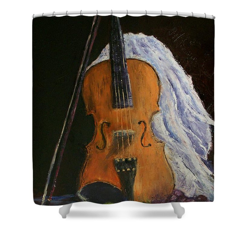 Original Shower Curtain featuring the painting Intermission by Stephen King