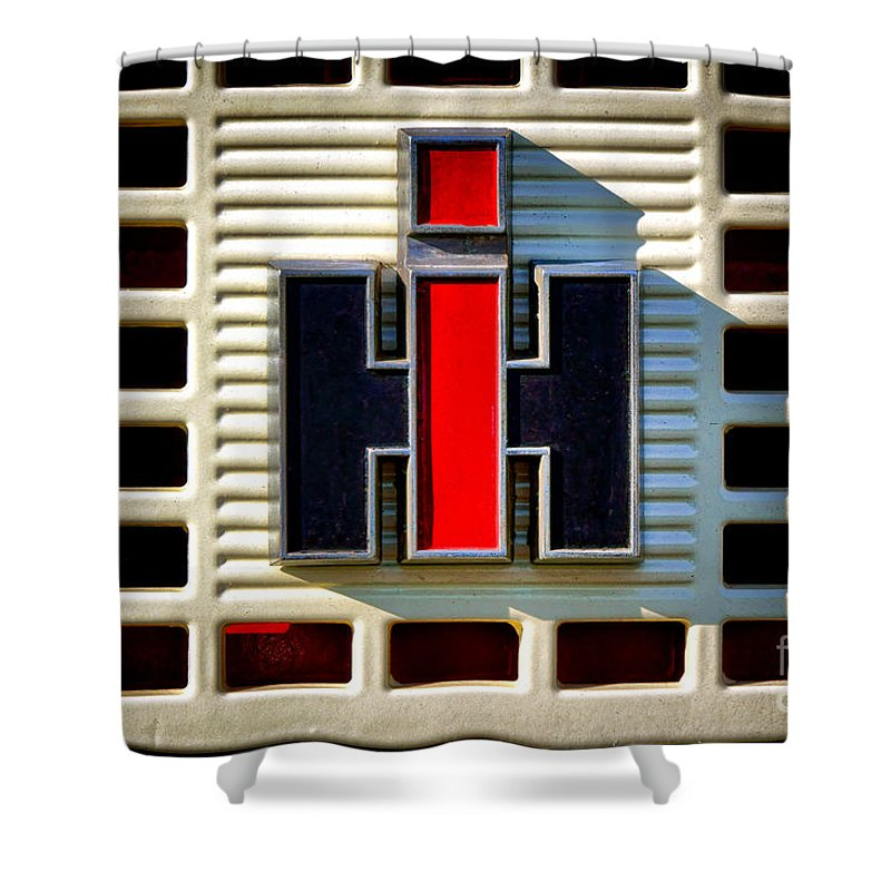 Ih Shower Curtain featuring the photograph International Harvester Logo by Olivier Le Queinec