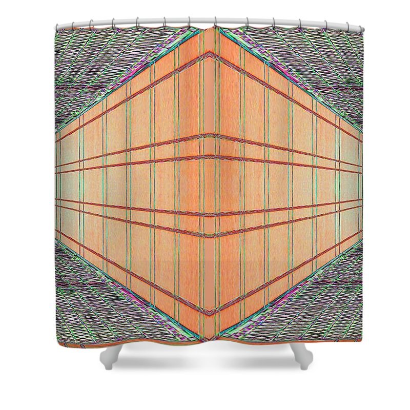 Architecture Shower Curtain featuring the photograph Intersect by Tim Allen